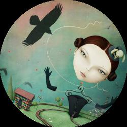 2 Circle Girl with Crow